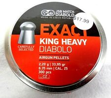 JSB EXACT .25 CAL KING HEAVY PELLETS 33.95 GR, 300 PCS