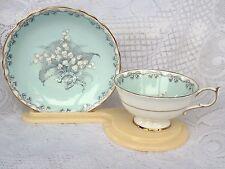 """Light Green Paragon """"TO THE BRIDE"""" Tea Cup & Saucer - Queen & Queen Mary Mark 16"""