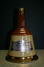 VINTAGE BELL'S Old Scotch Whiskey Bottle, 750ml, Ceramic, Bell Shaped