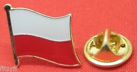 Poland Polish Country Flag Lapel Hat Cap Tie Pin Badge Brooch