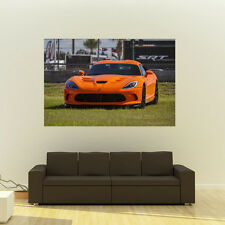 Poster of Dodge SRT Viper TA Giant Super Car Huge Print 54x36  137 x 91 cm