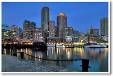 Boston Waterfront Harbor View - America US City Travel NEW POSTER