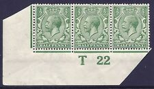 N14(-) ½d Pale Bright Cobalt Green Control T22 imperf with cert UNMOUNTED MINT