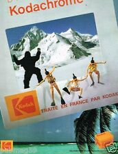 Publicité advertising 1985 Films Photo Pellicules Diapositives Kodak