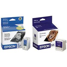 2 Pack Epson T019 Black T020 Color Genuine ink Cartridges For 8 83 880i 888
