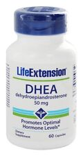 THREE BOTTLES $12.49 Life Extension DHEA 50 mg, 60 capsules anti aging NON GMO