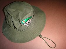 US Army 5th Special Forces Group SKULL Green OD Boonie Hat With Chinstrap