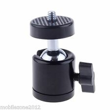 "Quality 360 Swivel Mini Ball Head 1/4"" Screw DSLR Camera Tripod Ballhead Stand"
