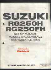 Suzuki RG250F-H (1987-on) Dealership Set-Up Manual RG 250 Gamma,GJ-21,PDI,Pepsi