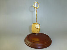 VINTAGE SWISS REUGE MINIATURE MUSIC BOX KEY CHAIN, PENDANT MECHANICAL WATCH