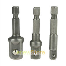 3pc IMPACT Drill Bit Socket Adapter Extension Power Bit Driver 1/4 3/8 1/2 NEW