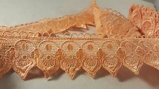 5cm- 1 meter Stylish peach guipure trim lace for crafting fashion designing