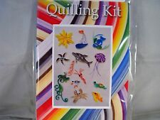COMPLETE QUILLING KIT WITH TOOL + PAPER + INSTRUCTIONS BY THE SEA KD 4