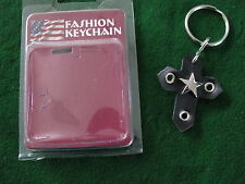 HOT ROD RAT CHOPPER BIKER CUSTOM HARLEY LEATHER KEYRING #3