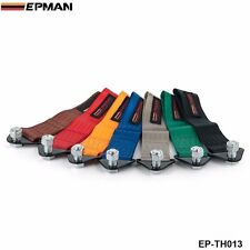 HIGH STRENGTH RACING TOW STRAP SET FOR FRONT/REAR BUMPER HOOK TRUCK/SUV