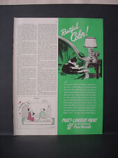 1947 Cat in Comfi Chair Pratt & Lambert 61 Floor Varnish Vintage Print Ad 11676