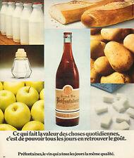 Publicité Advertising 1974  GRAND VIN PREFONTAINES