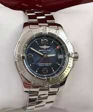 Ladies Breitling Colt Ocean Watch in Mint Condition Model A77380 Rare Blue Dial