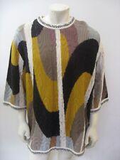 NWT COOGI Short Sleeve Sweater Ecru Size XXXL 3-XL
