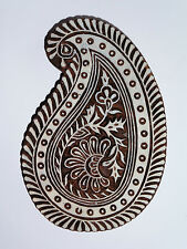 Paisley Shaped 19cm Indian Hand Carved Wooden Printing Block (LPA1)