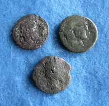 RARE Lot (3) Roman Bronze/ Copper coins 7/8 to 1 inches