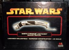 Master Replicas Star Wars RARE Darth Tyranus ROTS .45 Scaled Lightsaber Replica