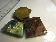 Cabochon slab rock lapidary stone 3 pieces
