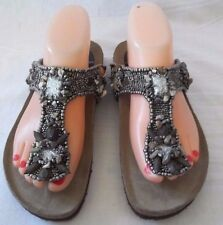 Gorgeous Maliparmi Beaded With Stones Sandals Size 36