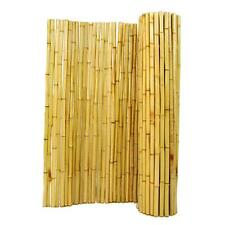 Natural Rolled Bamboo Fence Japanese Zen Garden Privacy Asian 6 ft. H x 8 ft. W