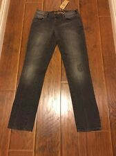 DC SHOES Women's S Jeans Skinny Black Gray Denim Straight Leg Slim Fit size 27