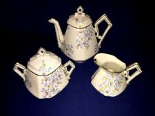 Vintage B&D Limoges Floral Coffee/Tea Pot with Creamer & Sugar Bowl ~ Excellent