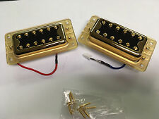 GOLD GRETSCH BLACKTOP FILTERTRON HUMBUCKER PICKUP SET PAIR BRIDGE NECK G5400
