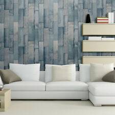 Exclusivo Arthouse Driftwood patrón de panel de madera sintética wallpaper efecto Rollo Verde Azulado