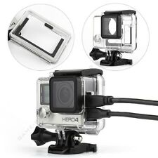Side Open Skeleton Protective Housing Case Cover Mount for GoPro Hero 4 Camera