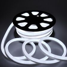 50' LED Neon Rope Light Flex Tube Holiday Party Home Outdoor Decor Cool White