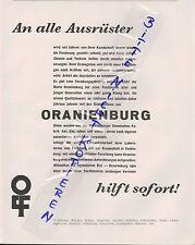 ORANIENBURG, Werbung 1934, Textil-Zentren Waschen Walken Beuchen Färben Mattiere