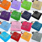 100%Cotton Head Wrap Cotton Dacron Paisley Bandanas Double Sided Scarf 20 Colors