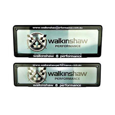 HSV WALKINSHAW PERFORMANCE NUMBER PLATE COVER SLIM FRONT STANDARD REAR
