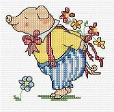Just For You Pig Cross Stitch Kit - 10.5cm x 10.5cm
