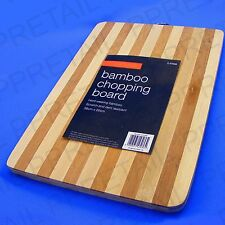 ★LARGE★ BAMBOO WOOD CHOPPING BOARD Kitchen Dicing Slicing Cutting Food Wooden