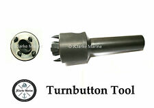 Turnbutton / common sense fastener hole punch cutting tool