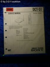 Sony Service Manual DCT 51 Cordless Telephone (#2598)