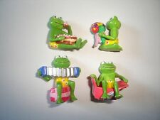 FUNNY FROGS BIRTHDAY FIGURINES SET ERDAL-REX - FIGURES COLLECTIBLES MINIATURES