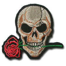 Red Rose Skull Tribal Harley Chopper Biker Rider Motorcycle Vest Patch Iron on