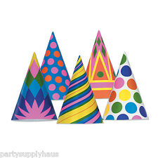 Big Top CIRCUS Theme CONE PARTY HATS (10 COUNT) Carnival Decorations