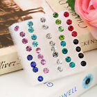 Fashion 1 Box of 20 Pairs Clear Crystal Ear Studs Earrings Allergy set BE
