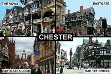 SOUVENIR FRIDGE MAGNET of CHESTER ENGLAND
