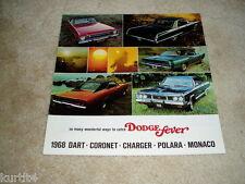 1968 Dodge Full Line Charger Coronet Dart Monaco sales brochure literature