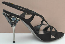 Miu Miu  Satin Runway Women jewel Slingback Shoes size UK 9, EU 42, US 12