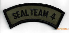 SEAL TEAM 4 SCROLL SCRIPT TAB PATCH US NAVY VETERAN GIFT PIN UP SUBDUED PARCHE